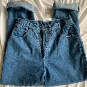 Denim - Vintage 80s Rough Riders high waisted jeans 15/16